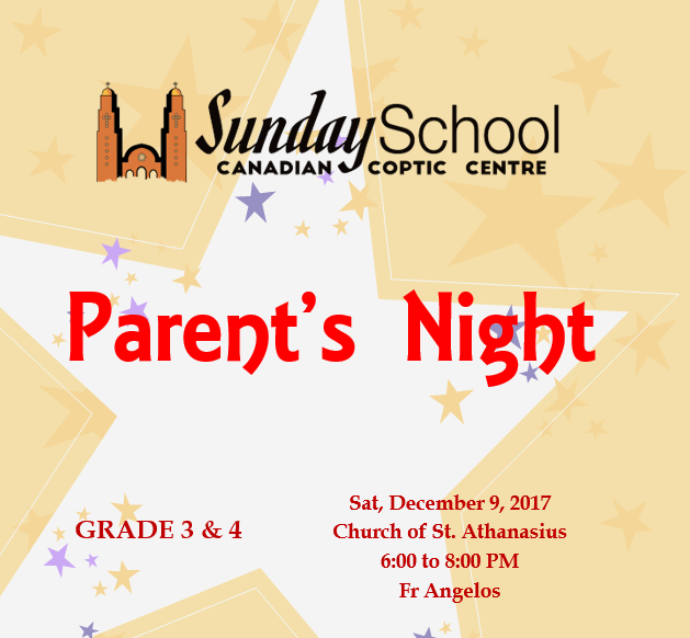 Parents Night – Grade 3&4 @ Church St Athanasius