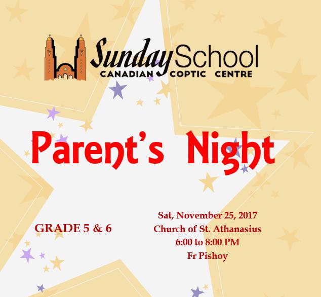Parents Night – Grade 5&6 @ Church St Athanasius