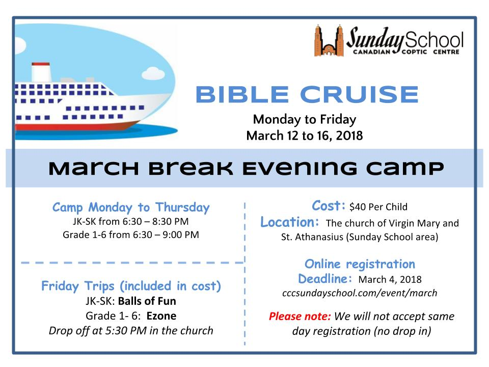 March Break Evening Camp @ Virgin Mary and St Athanasius