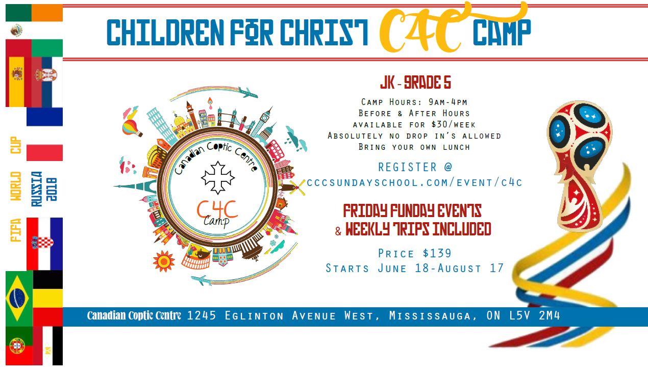 Children 4 Christ 2018 @ Canadian Coptic Centre