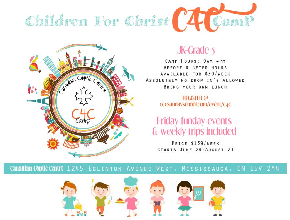 C4C Children for Christ Camp 2019 @ Church of Virgin Mary and St Athanasius