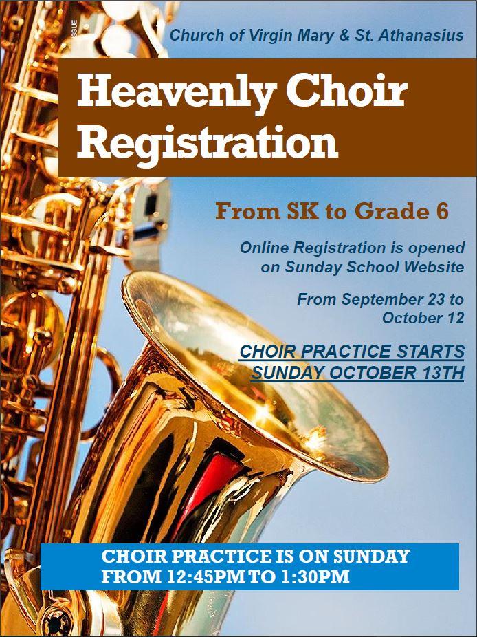 Choir Registration is Now Open @ Church of VMSA